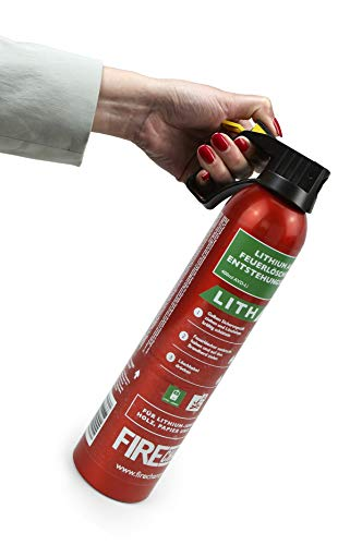 MedX5 1x AVD Feuerlöscher für A, E und Lithium-Ionen-Akkus und Metallbrände, 500 ml Feuerlöschspray