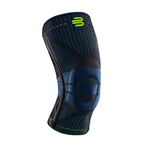 BAUERFEIND Rodillera deportiva unisex, derecha e izquierda, para deportes de pelota, atletismo, refuerzo de la rodilla durante el deporte con anillo de silicona