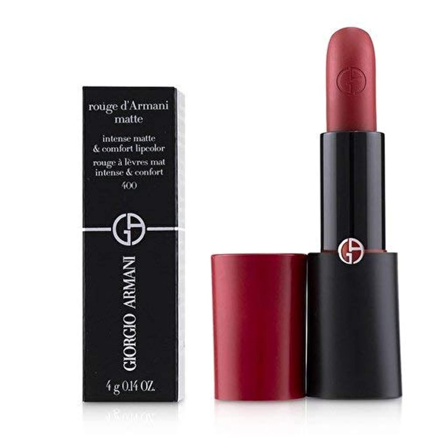 迅速測定おもしろいジョルジオアルマーニ Rouge D'Armani Matte Intense Matte & Comfort Lipcolor - # 400 Four Hundred 4g/0.14oz並行輸入品
