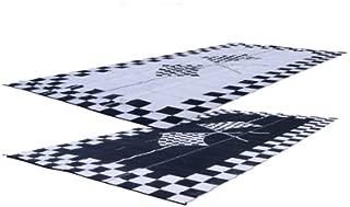 EZ Travel Mats RV Patio Mat: 9x12 Finish Line Checkered Flags Mat