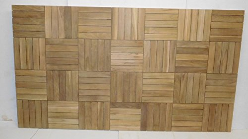 32 square feet of Teak wood mounted on plywood, 4 x 8 feet, all heartwood beauty