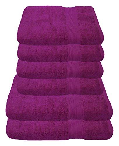 Julie Julsen Handtuch Set 2X Duschtuch 4X Handtuch Fuchsia/in 23 Farben erhältlich weich und saugstark