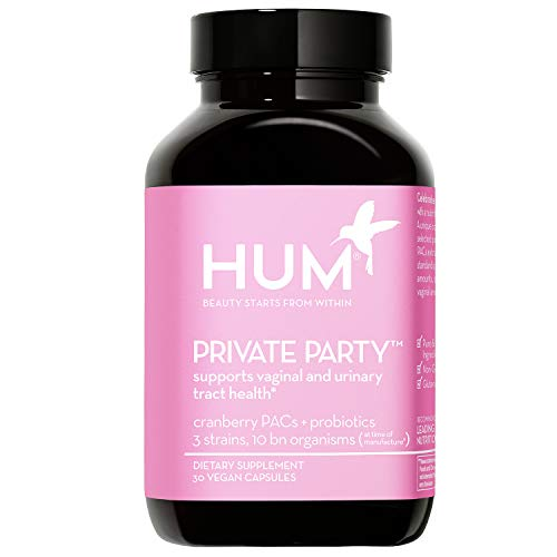 HUM Private Party - Supports Healthy Vaginal pH & Urinary Tract Health - Daily Vaginal Probiotics for Women to Help Maintain Yeast Balance - Vegan Oral Cranberry Supplement & Probiotic (30 Capsules)