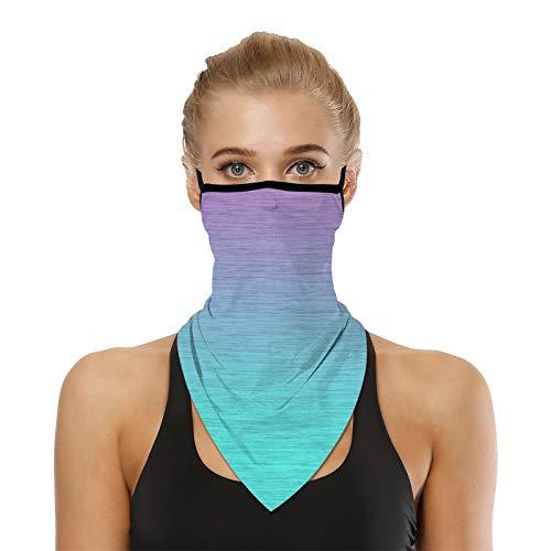 VICHYIE Neck Gaiter Bandana Face Mask Reusable Washable Cloth Ear Loops Men Women Balaclava Sun Dust Wind (Tie dye 12)