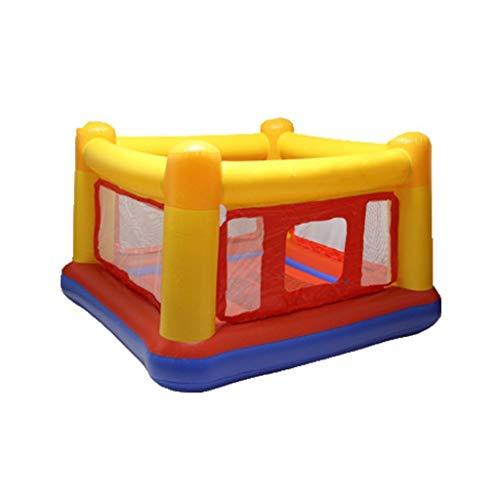 Castillo inflable Instalaciones De Entretenimiento De Dibujos Animados para Niños Juguetes para Juegos Infantiles Trampolines Inflables Trampolines Pequeños (Color : Yellow, Size : 174 * 174 * 112cm)