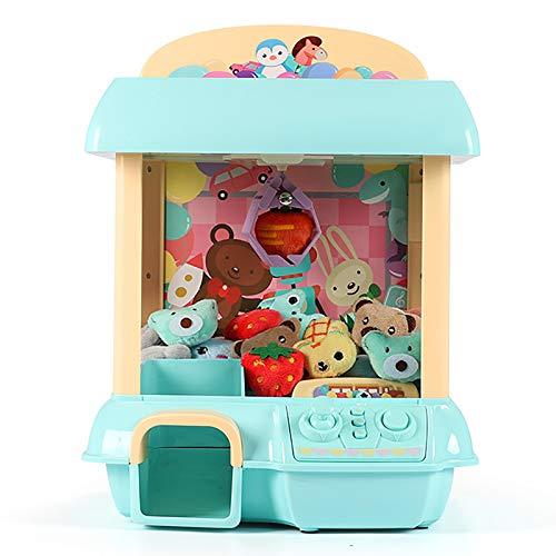 NXW Mini Juego De Máquina De Garras Toy Candy Grabber Prize Dispenser Máquina Expendedora Toy Grabber Arcade Game con 6 Personajes De Peluche con Interruptor De Control De Volumen