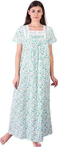 Himashu Handlooms Women's Cotton Floral Maxi Nighty (HH_Multicolour22_XL_Multicolored)
