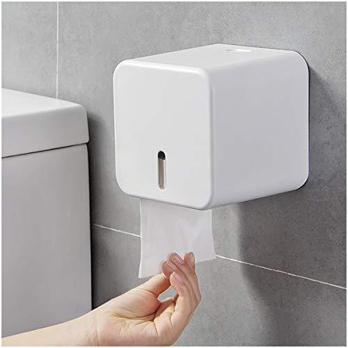 Colist-porte papier toilette,porte rouleau papier toilettes mural,Distributeurs et porte-rouleaux de papier, imperméables/anti-poussière- pour salle de bain/toilette (Blanc)