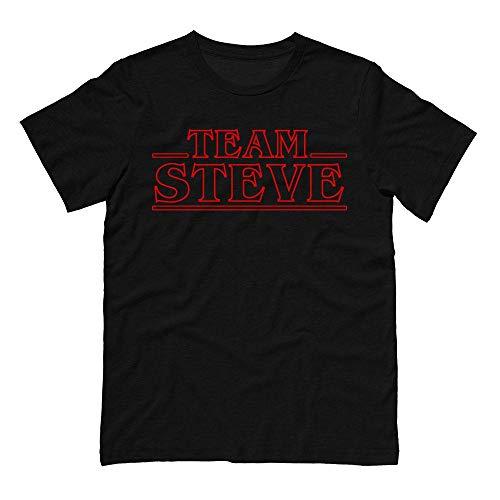 TeesAndTankYou Team Steve Shirt Unisex X-Large Black