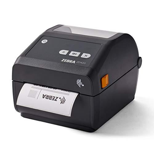 Zebra ZD420d Direct Thermal Desktop Printer 203 dpi Print Width 4 in USB Ethernet ZD42042-D01E00EZ