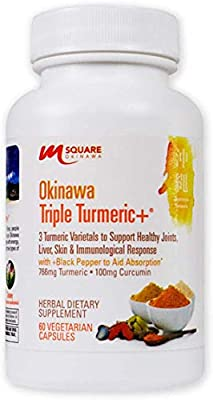 Okinawa Triple Turmeric +   3 Turmeric Varietals with Black Pepper to Aid Absorption