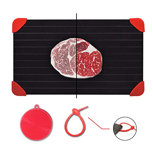 Defrosting Tray for Frozen Meat Rapid and Safer Way of Thawing Food Large Size Defroster Plate Thaw by Miracle Natural Heating A Pack with 7 Pieces Included