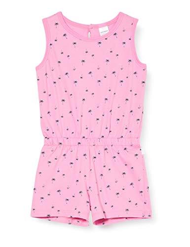 Schiesser Mädchen Cat Zoe Jumpsuit kurz Einteiliger Schlafanzug, Rot (Rosa 503), (Herstellergröße: 128)