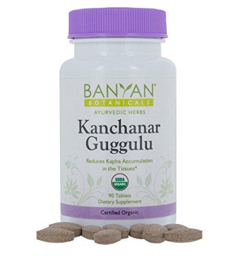 Banyan Botanicals Kanchanar Guggulu - USDA Organic - 90 Tablets - Energizing Ayurvedic Herbs for Thyroid & Lymphatic Wellness*