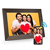 MARVUE Digital Picture Frame Wood Effect,FRAMEO 10.1 Inch WiFi Digital Photo Frame 1280x800 IPS Touch Screen,16GB Storage, Auto-Rotate, Share Video/Photos Instantly via Free App
