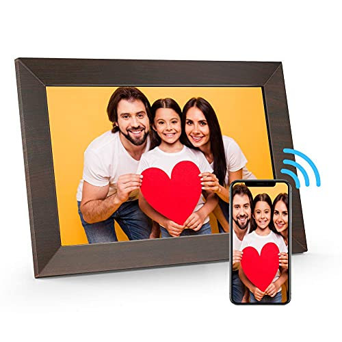 MARVUE Digital Picture Frame WiFi(10.1-inch, 16GB), Smart Autoplay Electronic Photo Frame with IPS Touch Screen, Support Remote Sharing of Pictures or Videos via APP, Auto-Rotate, Custom Time Play