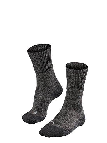 FALKE Herren, Wandersocken TK1 Wool Merinowollmischung, 1 er Pack, Grau (Smog 3150), Größe: 44-45