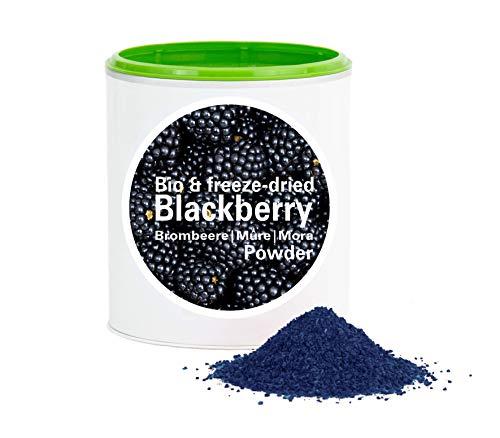 Brombeerpulver – Bio Brombeere gefriergetrocknet |bio organic| freeze-dried blackberry| good-superfruit von good-smoothie| 100% frucht |ohne zusatzstoffe + viele Inhaltsstoffe| 120g
