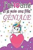 J'ai 10 ans et je suis une fille géniale: Carnet secret et journal intime pour écrire et dessiner / Cadeau d'anniversaire ou noël original pour une ... 6*9 - Thème Licorne magique extraordinaire