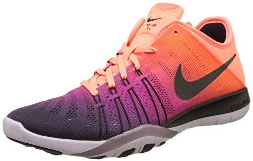 Nike Damen WMNS Free TR 6 SpectrumTrainingschuhe Laufschuhe, Orange (Leuchtendes Mango/Bleached Lila/Purple Smoke/Schwarz), 38 EU