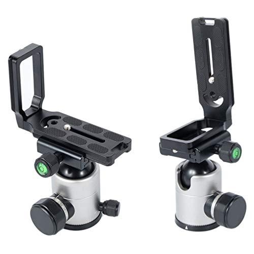 Leoboone Durable Use Universal MPU-105 Soporte de Placa L de liberación rápida para Canon para Nikon D800 D700 D7000 D5100 D3100 D90 Cámara réflex Digital