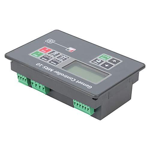 Oumefar Controlador automático de generador de Pantalla LCD MRS-10, Controlador de Arranque automático de generador sólido para generador diésel