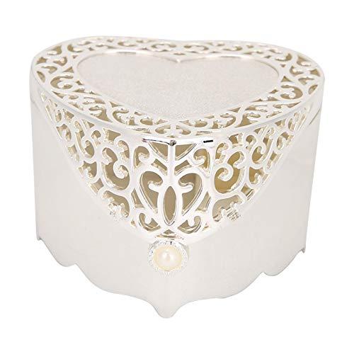 SHYEKYO Caja de Almacenamiento de Joyas, Hermosa y Delicada, Organizador de Almacenamiento de baratijas, para Pulseras de Pendientes para Collar para niñas, Mujeres para mamá(Hollow Heart Shape)