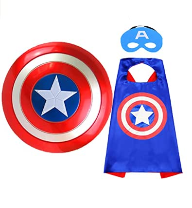 Baby & Sons Superhero Capes for Kids-Superhero Costumes for Boys Avengers Toys for Kids Dress up 3-10 Year Old Boy Gifts
