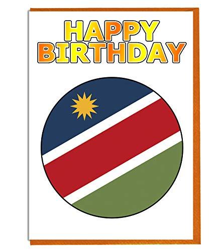 Namibia-Flagge – Geburtstagskarte – Fre& – Familie – Kollege – Mate – Boss – geliebte Person