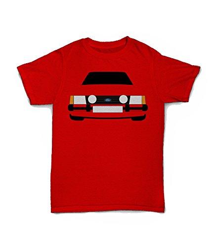 Retro Motor Company Ford Escort MK3 XR3i - Camiseta personalizable, color gris