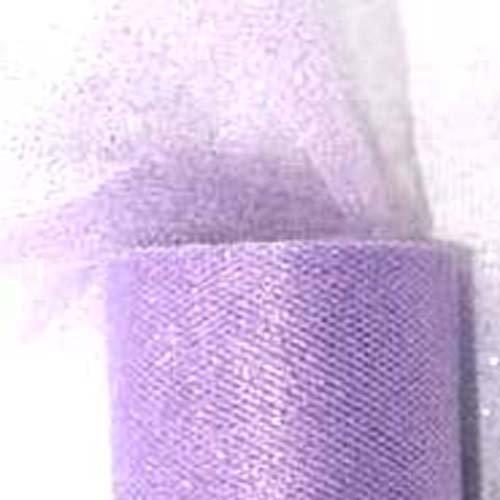 Partydeco - Rollo de tul con purpurina, color lila, cód. TIUG15-002-KARTON