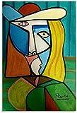 Crazystore Impresión en Lienzo 50x70cm sin Marco Pablo Picasso Cubismo Pinturas Lienzo Póster y Arte de Pared Impresión de imágenes Modernas Carteles de decoración de Dormitorio Familiar