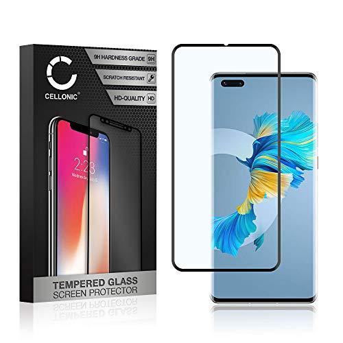 CELLONIC Displayschutzglas kompatibel mit Huawei Mate 40 Pro (3D Full Cover 9H 0.33mm Full Glue) Glas schwarz Displayschutz Schutzglas Tempered Glass