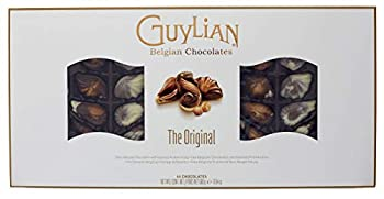 GuyLian Belgian Chocolate Gift Box Includes Silky Smooth Sea Shell Shaped Milk Chocolates with a Creamy Hazelnut Praline Filling 44 Count