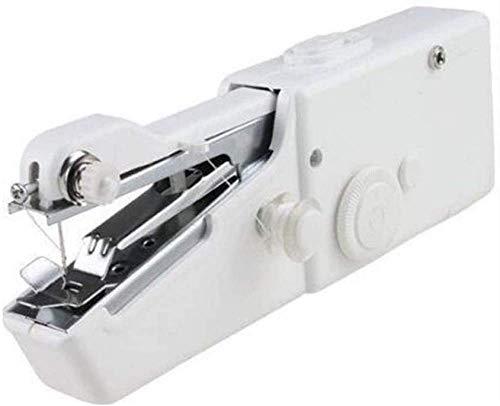 chaozhi Mini máquina de Coser portátil, con velocidades y Pedal, máquina de reparación de Bricolaje, Auricular de Costura para el hogar, para Principiantes, Adultos, para Ropa de Tela, Color Blanco
