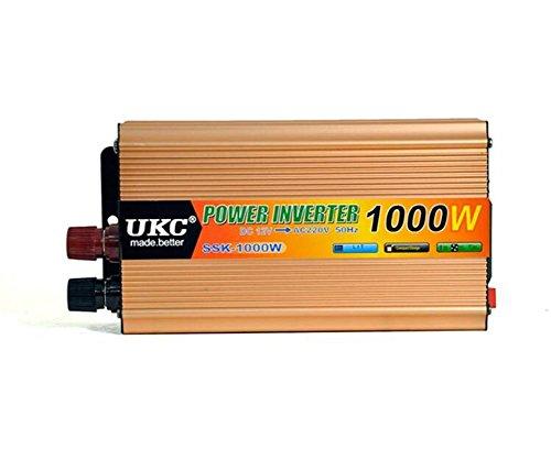 Convertisseur KDLD onduleurs d'alimentation automobile de 1000 W DC 12V à AC220-230V disposent d'un port USB de 4,2 A pour ordinateurs portables, tablettes et téléphones