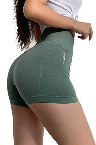 PowerLife® Damen Sport Shorts Glänzende Metallische Hosen Yoga Hot Shorts Aktive Lounge Shorts Tanz Shorts mit Farbigen Kanten