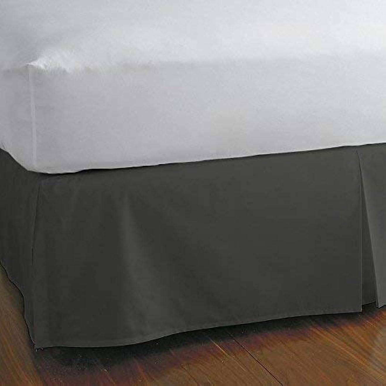 小康ベットKPリネンRVサイズ分割コーナーベッドスカート16インチドロップ?–?100?%エジプト綿の豪華な&低刺激性簡単に洗いWrinkle、(ホワイト、RVサイズベッドスカートwith 16インチドロップ) King 76 '' x 80''