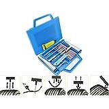 BDDMYAAパンク修理キット 車,タイヤ修理工具、車用タイヤパンク修理キット、二輪車パンク修理(11点セット)