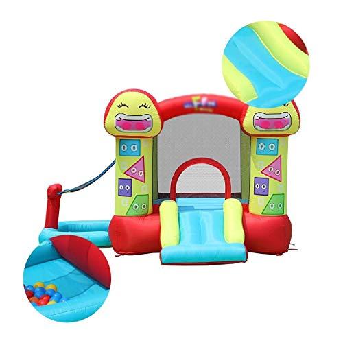 Outdoor Kinderspielplatz Garten wasserdicht Schloss aufblasbares Trampolin Haus Spielhaus for Kinder Innen mit Haartrockner (Color : Red, Size : 288 * 290 * 183cm)