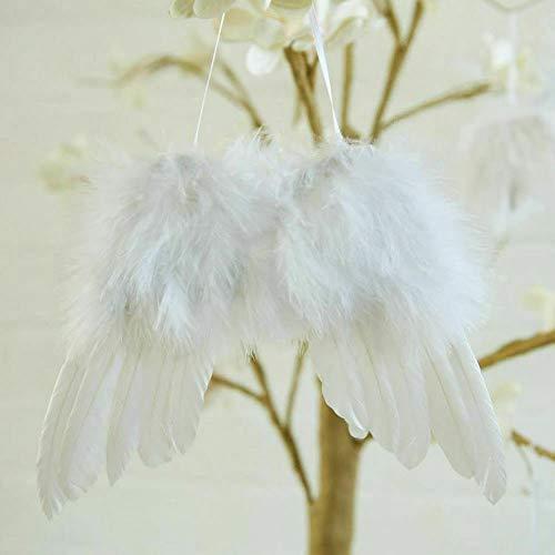 Mini Feder hängende Engelsflügel Weihnachtsbaum Hochzeit Dekorationen Zubehör Baby Foto Requisiten Pack von 10