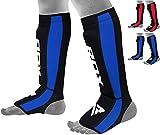 RDX Espinilleras Kick Boxing Neopreno Boxeo MMA Protección Muay Thai Espinilla Empeine (Certificado CE Aprobado por SATRA)