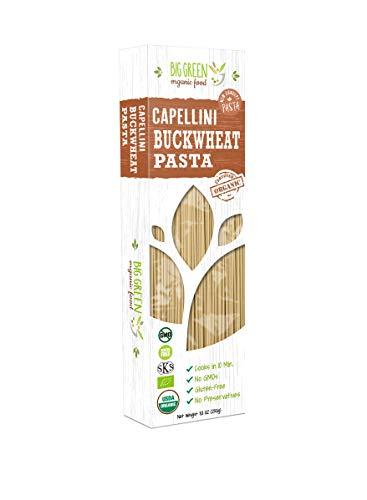 Big Green Organic Food- Organic Buckwheat Capellini, 8.8oz, 100% buckwheat, Gluten-Free, Non-GMO (1)