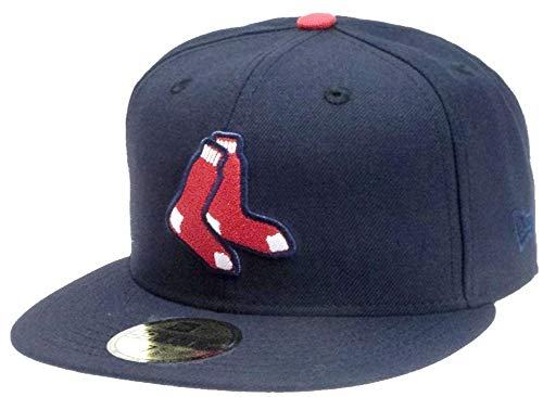 New Era Boston Red Sox Socks Navy OTC Cap 59fifty 5950 Fitted MLB Limited Edition