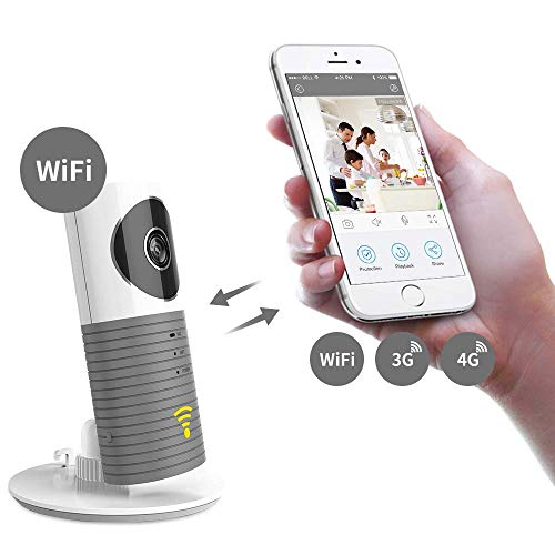 Clever dog telecamera wifi wireless Supporto per baby monitor intelligente P2P Night Vision Registra video Rilevato movimento audio bidirezionale per tablet / smartphone IOS / Android
