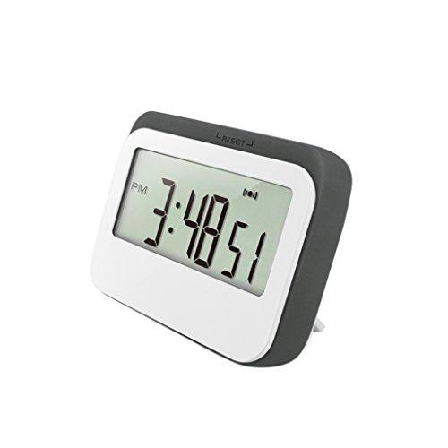 MagiDeal Magnetische Küchenuhr Küchentimer (Timer-, Stopp-Uhr-Funktion, Countdown) mit LCD Display, Batteriebetrieben #2 - Grau