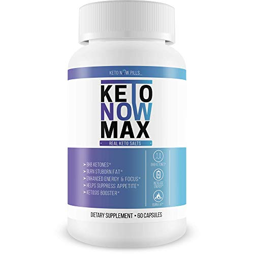 Keto Now Max - Burn More Fat - Lose More Weight - Faster Ketosis Entry Means More Time Losing Weight And Inches Off Your Waist - Burn Fat For Energy- Max Kgx Keto Pills Now Real Keto Salts