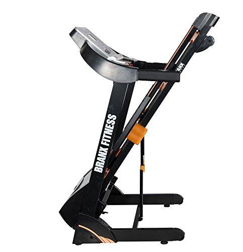Branx Fitness Foldable 'Cardio Pro' Touchscreen Console Treadmill - 17km/h - 6hp - 0-15 Level Auto Incline - Body Fat Readout - Soft Drop System - Smart Deck Suspension Points