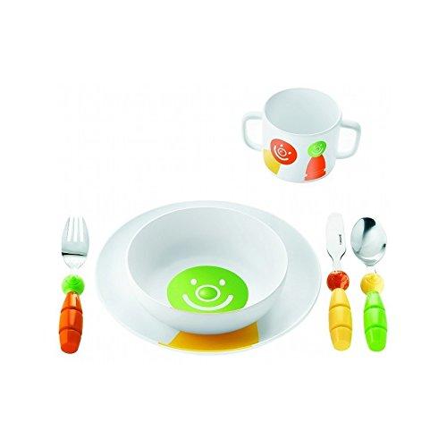 Guzzini 07500152 Billoset: Assiette creuse, assiette, tasse, couverts