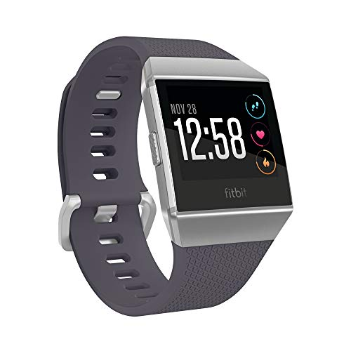 Fitbit Ionic Health & Fitness Smartwatch, Blau-Grau / Silbergrau,Einheitsgröße
